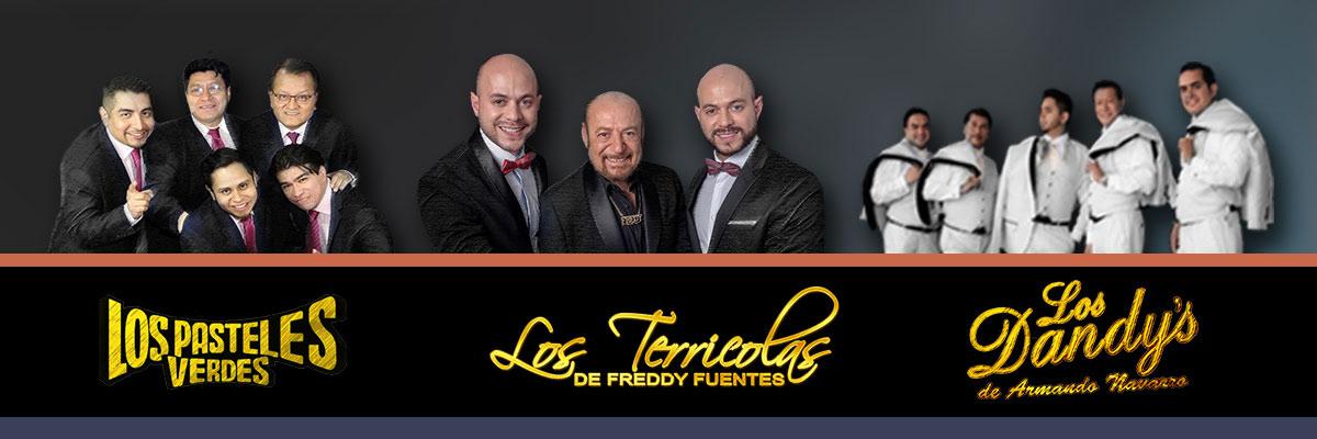 LOS TERRICOLAS DE FREDDY FUENTES, LOS PASTELES VERDES DEL PERU Y LOS DANDYS DE ARMANDO NAVARRO