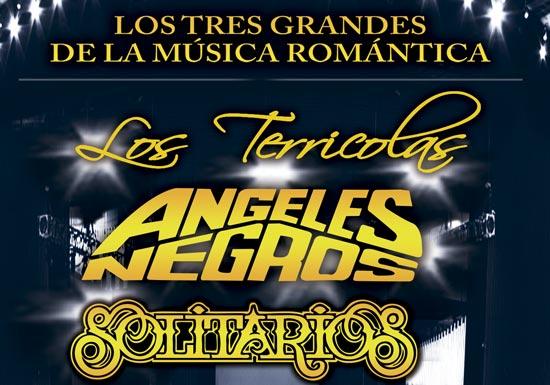 LOS TRES GRANDES DE LA MÚSICA ROMÁNTICA - Los Terricolas - Ángeles Negros - Solitarios