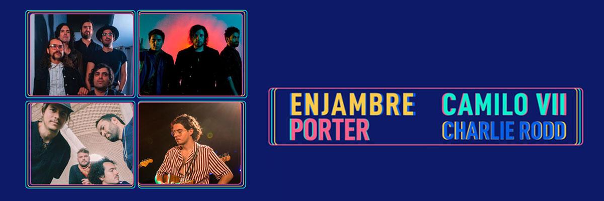 Enjambre, Camilo VII, Porter y Charlie Rodd