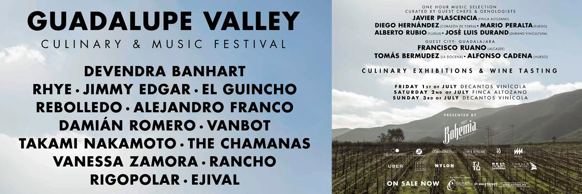 GUADALUPE VALLEY CULINARY & MUSIC FESTIVAL DECANTOS 3-JULIO
