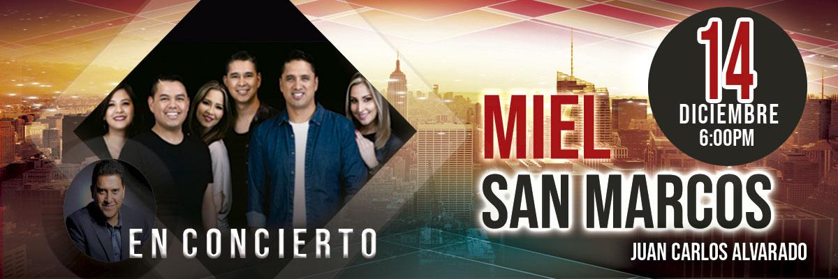 CONCIERTO MIEL SAN MARCOS Y JUAN CARLOS ALVARADO