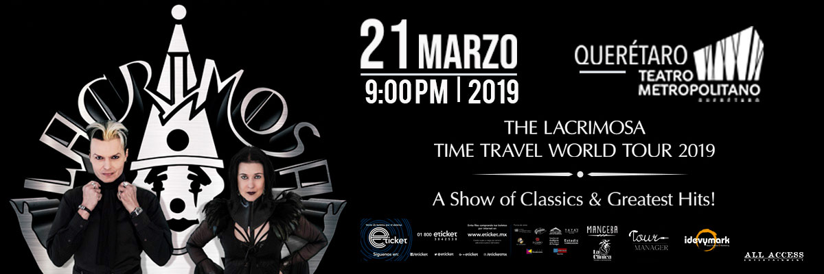 LACRIMOSA - TIME TRAVEL WORLD TOUR 2019