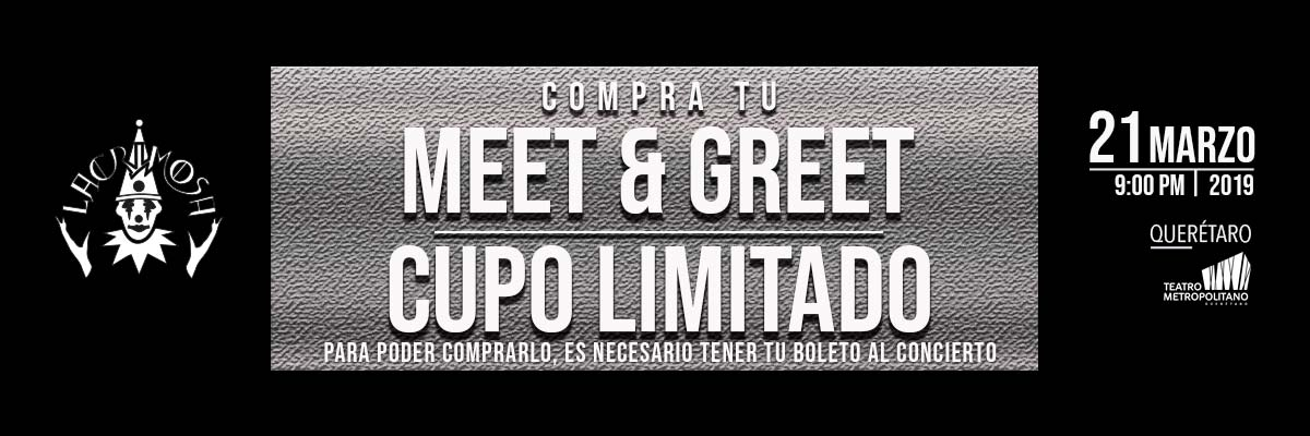 LACRIMOSA - TIME TRAVEL WORLD TOUR 2019 - MEET & GREET