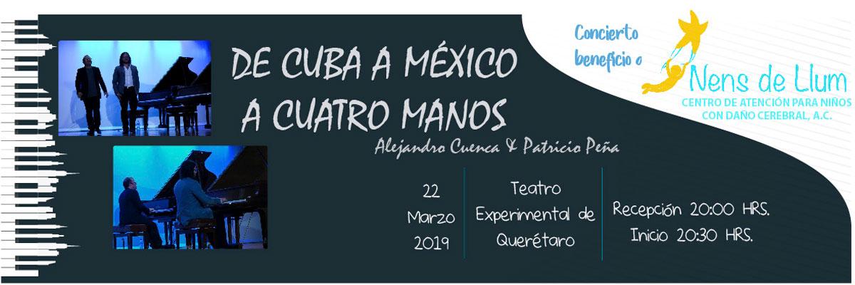 DE CUBA A MÉXICO A 4 MANOS
