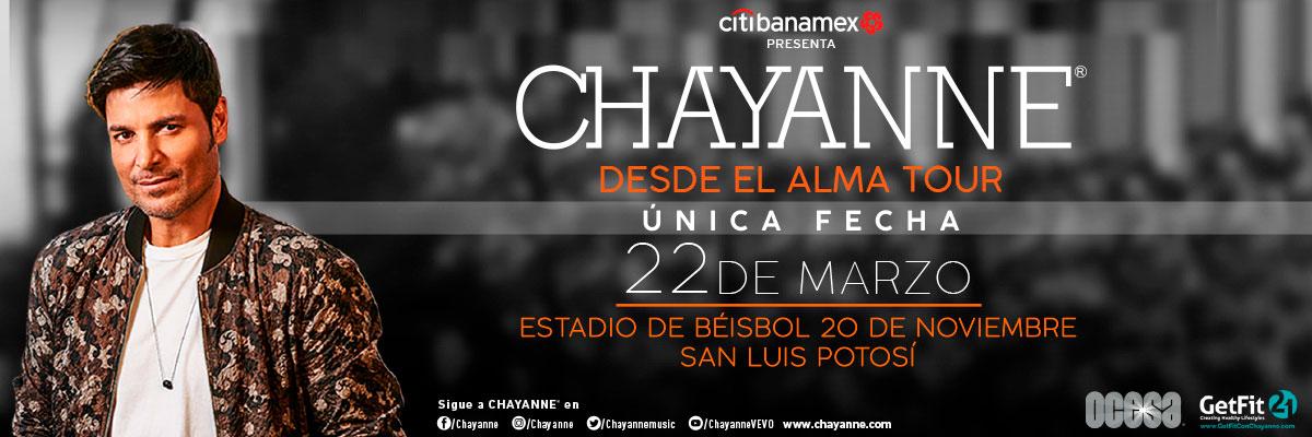 CHAYANNE - ESPECIAL CENTRAL-LATERAL-VIP CENTRAL-ATENCIONES ESPECIALES