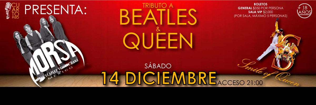 TRIBUTO A THE BEATLES Y QUEEN