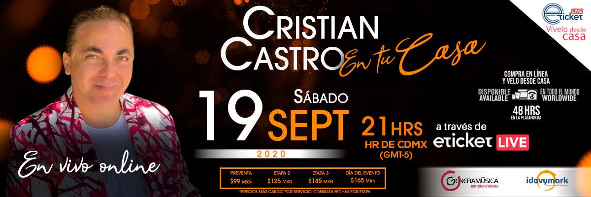 CRISTIAN CASTRO... EN TU CASA