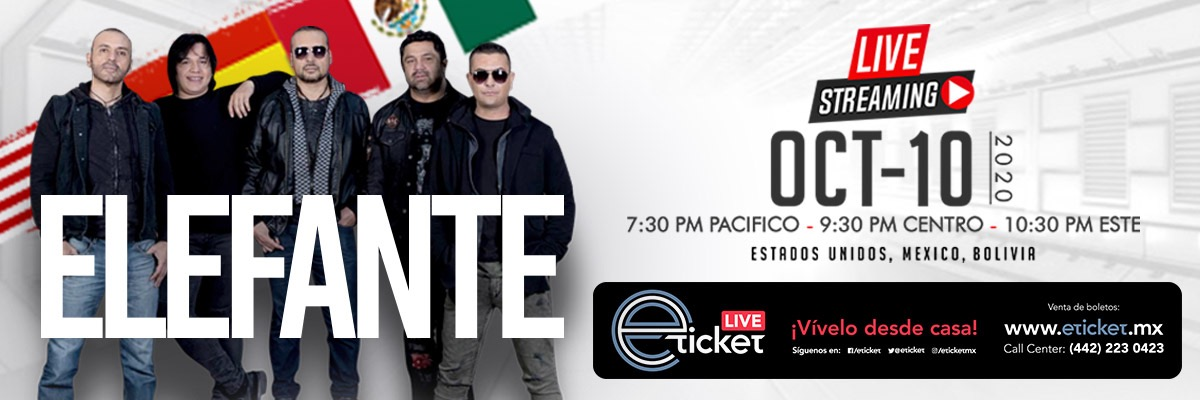 ELEFANTE EN CONCIERTO - LIVE STREAMING