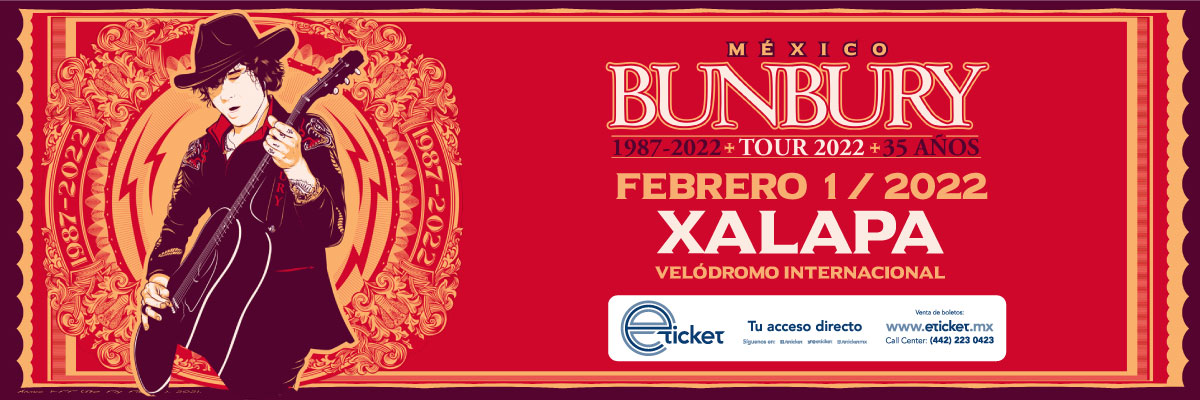 ENRIQUE BUNBURY TOUR 2022 - 35 AÑOS