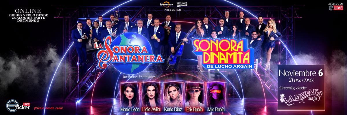LA SONORA SANTANERA, SONORA DINAMITA DE LUCHO ARGAIN E INVITADOS ESPECIALES