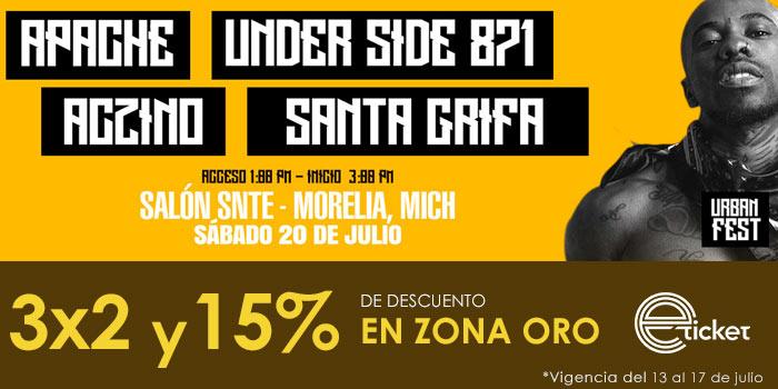 URBAN FEST MORELIA 15% 3X2
